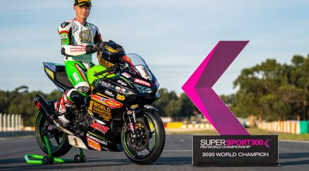 The first World title for Carbonin with Jeffrey Buis winning the WorldSSP300 class